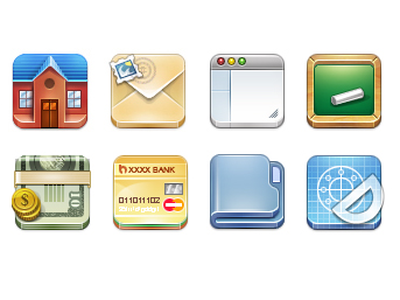 Icons icons square web set pack