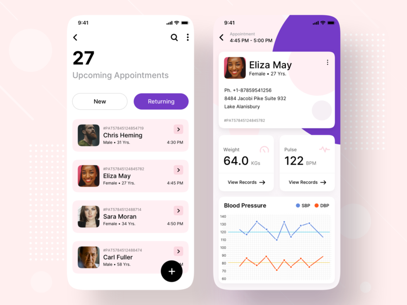 Patient Appointment Healthcare Mobile App Design coronavirus corona cards card health app patient app doctor patients stats design product medical booking patient dashboard care healthcare health mobile app design mobile