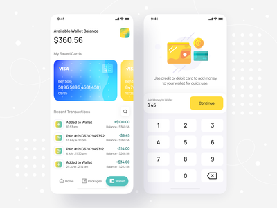 Package Delivery Wallet App UI -  iOS Mobile App • Senz transaction history transaction mobile design mobile application ios mobile ui credit card card fintech finance wallet app ui wallet app wallet payment interface mobile app design mobile app mobile app ui