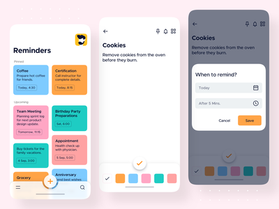 Reminder List • Reminders - iOS App Design product design sticky note mobile application todo list todo todo app reminders reminder app reminder notes app notes ios ui android app design android app android ios app ios app design mobile app design mobile app