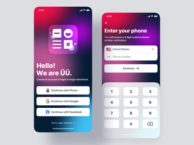 Sign Up UI iOS App Design ui phone create account verification code verification otp login screen login sign in signin sign up signup mobile app design mobile app mobile glassmorphism ios 14 ios app ios app design