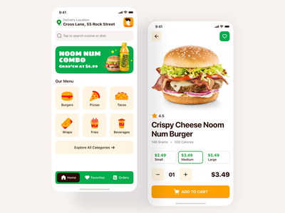 Food Delivery iOS App Design app screen home screen delivery app food app ux design ui design ios app restaurant app restaurant food burger king app ui app ui interface ios14 ios mobile design mobile mobile app design