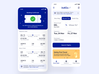 Flight Booking - iOS App Design flights covid19 booking app mobile app mobile ui ux airplane travel ticket ticket app ticket booking flight booking search pattern search form flight search flight app booking tickets flight