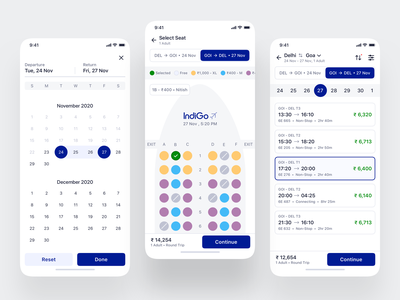Flight Booking App - iOS App Design uidesign uiux mobile design reservation mobile app segmented control calendar flights flight search flight booking flight app flight app ui mobile mobile ui ios mobile app design app interface ui