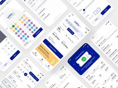 Flight Booking - iOS App Design filter filter ui sign up bottom sheet drawer calendar ui datepicker flights indigo mobile ui confirmation booking app search form ios 14 mobile app design mobile app flight search flight app flight booking flight