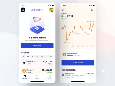 Crypto Wallet - iOS App Design • Palladium crypto exchange mobile ui ux fintech trading app trading finance ios14 ios 14 ios app design ios glassmorphism mobile ui mobile app mobile app design crypto currency cryptocurrency crypto wallet crypto