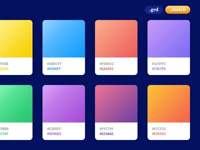 Coolhue - Gradient Palette webkul swatches palettes gradients colors photoshop color palette swatch gradient sketch freebie