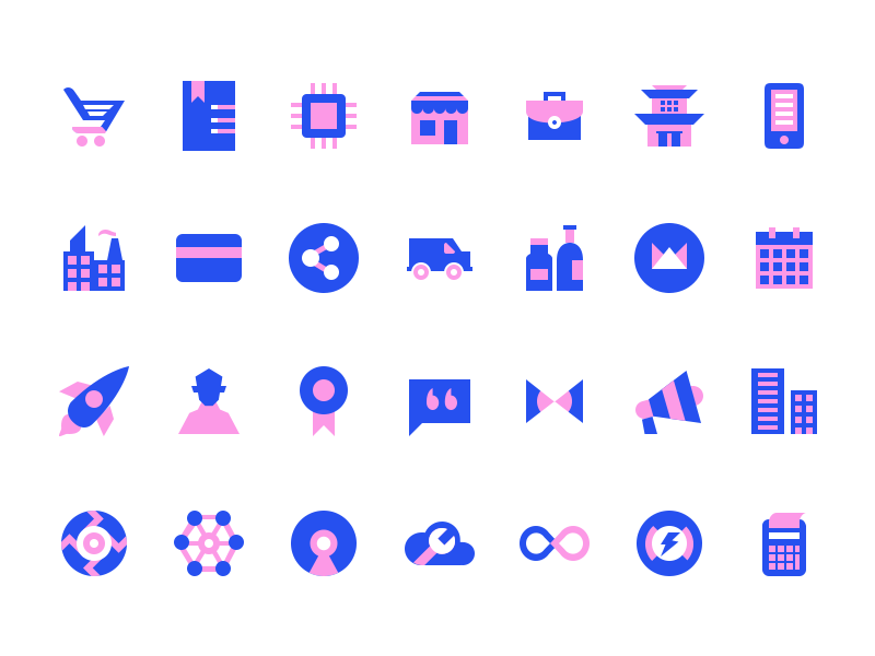 Icons for Webkul Website by Nitish Khagwal on Dribbble