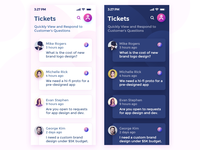 Tickets App UI (Light and Dark) Views - UVdesk
