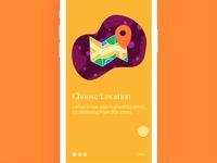 Hyperlocal Onboarding App UI - Interaction Design