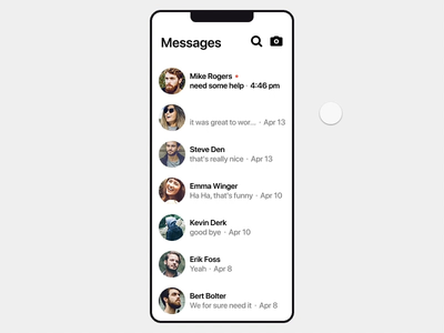 Swipe to Accept Text Suggestions - Interaction Design ui animation animation auto complete messages swipe message machine learning ai suggestion invision studio invision animated prototype interaction chat ux design interface app ui