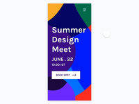 Summer Design Meet - Webkul Dribbble MeetUp