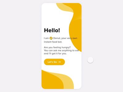 Food App Chatbot UI - Interaction Design