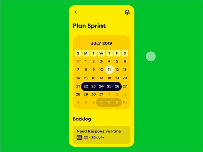 Sprint App UI - Interaction Design mobile ux activity view bottom sheet agile ux sprint card mobile design mobile app design ui ux app ui interface invision studio invision interaction design interaction animation animated mobile ui mobile