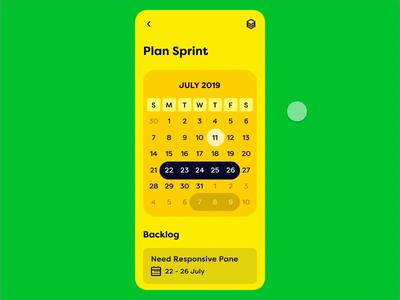 Sprint App UI - Interaction Design
