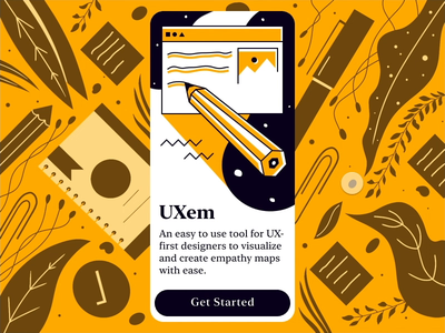 Mobile App On-boarding Interaction - Empathy Map Tool - UXem onboarding ui mobile application freebie tool empathy map ios app uiuxdesign uxdesign uiux ux tabbar bottom sheet app ui design invision studio invision animated uxem mobile app mobile app design animation