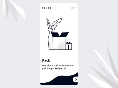 Onboarding App UI Send Packages - Interaction Design ixd interaction design invision studio design process shipping management onboarding illustration onboarding ui illustration design delivery app delivery mobile app design animated animation interaction invision app ui ux interface ui illustration