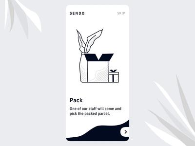 Onboarding App UI Send Packages - Interaction Design