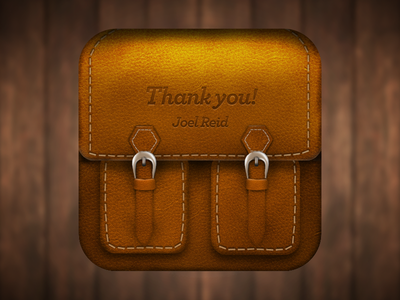 Leather Bag iOS Icon ios icon photoshop bag leather debut texture typography iphone app button