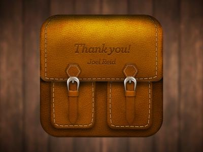 Leather Bag iOS Icon