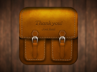 Leather Bag iOS Icon