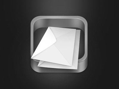 Mailbox App Icon ios app icon photoshop post letter metal mail mailbox ui message