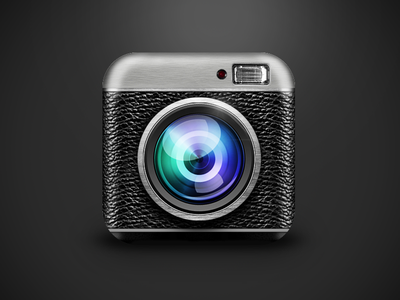 Say Cheese! Camera App iOS Icon ios icon photoshop texture camera cam lens realistic app android notflat