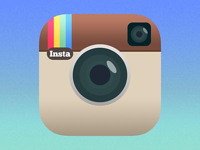 Instagram Icon iOS 7 Redesign ios7 app icon ios iphone apple instagram redesign flat semiflat simple