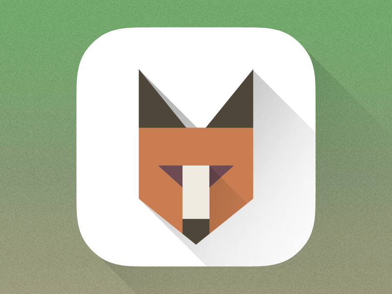 Fox Icon fox icon ios app flat semiflat shadows long ios7