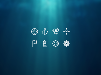 Nautical Icons flat flag ship sea icon vector iconset lighthouse anchor nautical set icons