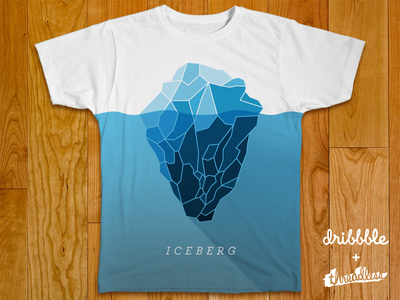 Iceberg Threadless Shirt iceberg shirt t-shirt tee threadless shadow sea water cool long shadow