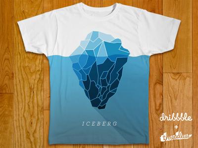 Iceberg Threadless Shirt iceberg shirt t-shirt tee threadless shadow sea water cool long shadow