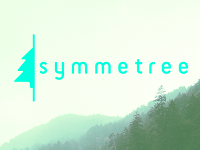 Symmetree logo brand branding tree woods symmetry green nature signet flat