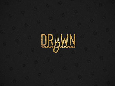 Drown Logo drown logo brand branding mensch typography flat gold signet pattern