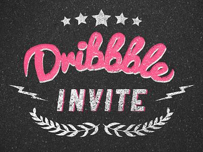 Dribbble Invite invite dribbble invitation draft typography design player prospect lettering