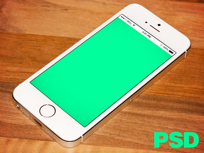 Realistic iPhone 5s PSD freebie psd mockup download template apple iphone silver free
