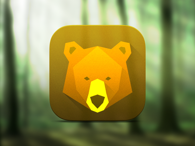 Bear icon icon app ios7 design flat shadows long space bear logo animal forest