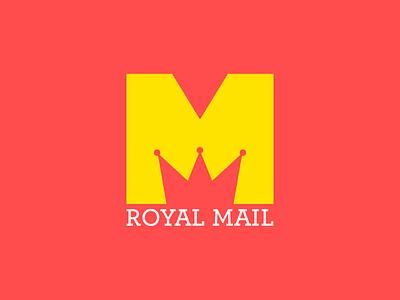 Royal Mail Logo Redesign logo royal mail icon signet design flat crown m typography