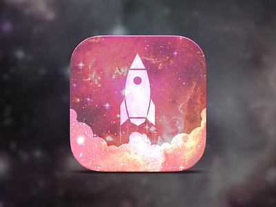 ROCKET App icon icon app ios7 design flat space rocket logo steam