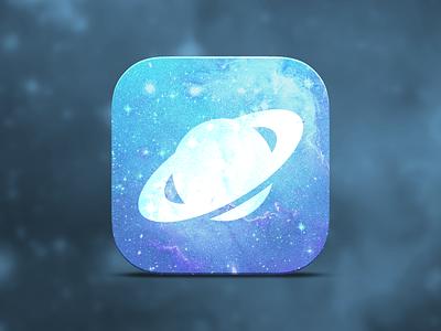 Planet App Icon icon app ios7 design flat space rocket logo steam planet