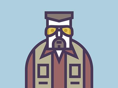 Walter Sobchak the big lebowski dude walter illustration vector flat