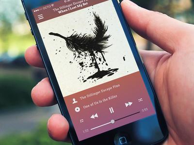 Music Player App music ios7 flat ux ui app ios