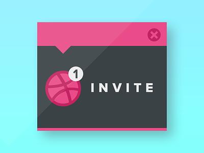 ONE INVITE invite dribbble invitation draft typography design player prospect lettering flat notification