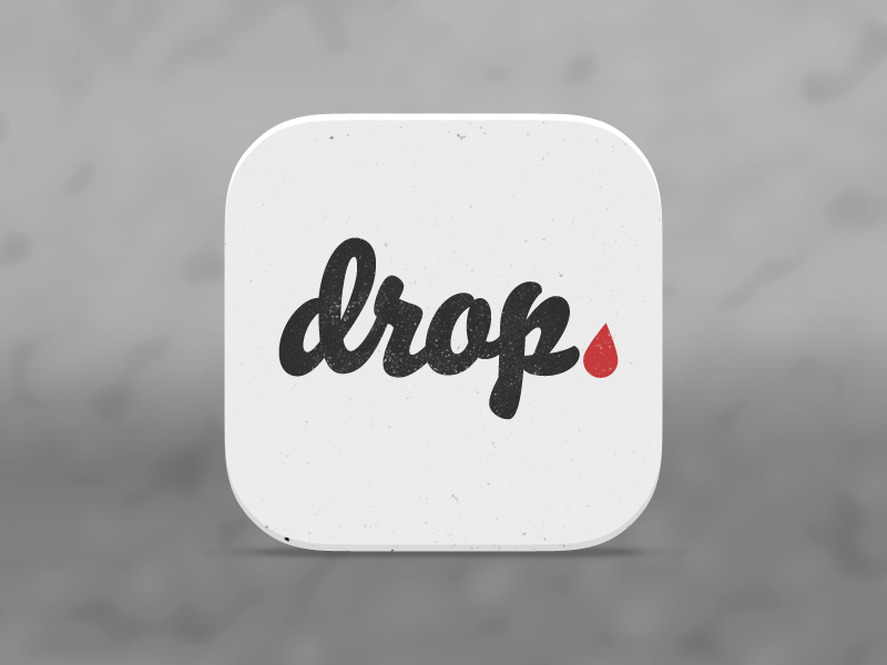 Drop Icon icon app ios7 design flat typography lettering drop blood red