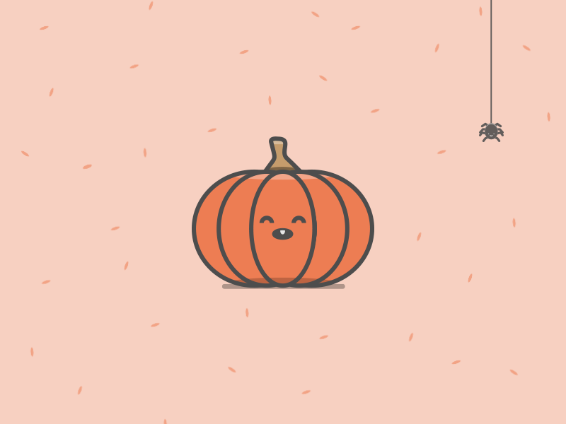 Pumpkin illustration pumpkin halloween evil spider trick treat illustration flat creepy