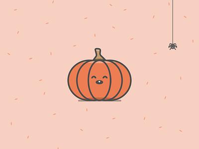 Pumpkin illustration pumpkin halloween evil spider trick treat illustration flat creepy