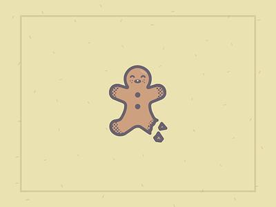 Gingerbread Man illustration flat christmas gingerbread man illustrator cute