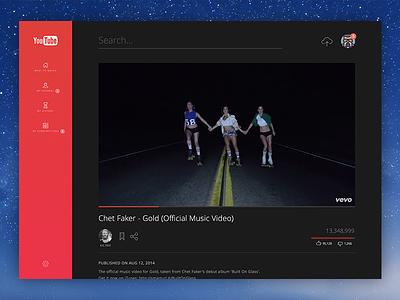 Youtube Redesign website web webapp typography flat app sketch youtube redesign