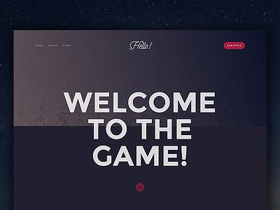 Hello Webdesign sketch hello landingpage typography ux ui gradient flat design