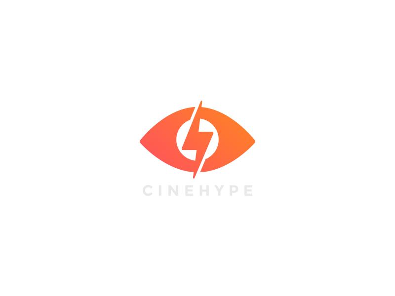 Logo Draft Cinehype hype motion video camera eye identity design logo